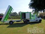 be trailer kipper met compartiment en open laadbak