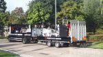 combinatie vrachtwagen aanhangwagen wegenbouw