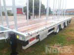 802315 remorque 3 essieux wipcar aanhangwagen vlakke laadvloer