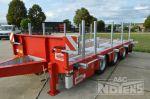 802429 middenas aanhangwagen dieplader met containergeleiding uitneembare stippen chassisverbreders