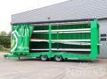 802236 dubbele laadvloer verstelbare bodem middenasser aanhangwagen