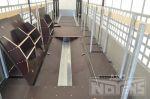 802245 oplegger midden kuip uitholling transport rollen staal