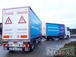 802320 volume combinatie MAN vrachtwagen met aanhangwagen schuifzeilopbouwen