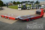 combinatie wipcar middenas aanhangwagen met vrachtwagen open plateau