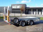 802266 middenas aanhangwagen voor heftuck transport en minigravers