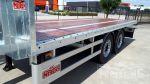 802325 aanhangwagen gegalvaniseerd hardhouten laadvloer