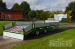802354 hydraulisch kantelbare achterkant oprijrampen transport machines lange ladingen uitzonderlijk vervoer