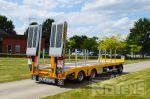 802358 dieplader aanhangwagen met hydraulische verschuifbare oprijrampen