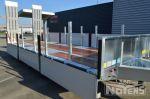 802400 gegalvaniseerde aanhangwagen dieplader met aluminium oprijrampen