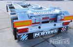 802473 containerchassis aanhangwagen met loopwagen en verschillende aanslagen