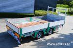 802497 trailer dieplader middenasser aanhangwagen remorque surbaissée porte engins