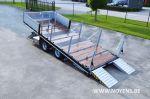 802513 trailer aanhangwagen dieplader kantelbare bovenplateau