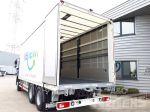 901990 vrachtwagenopbouw met schuifzeilen en achterdeuren voorziening voor meeneemheftruck verlaagde vangmuilkoppeling