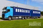 902162 vrachtwagen en aanhangwagen volumecombinatie schuifzeilopbouw
